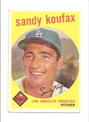 1959 Topps #163 Sandy Koufax