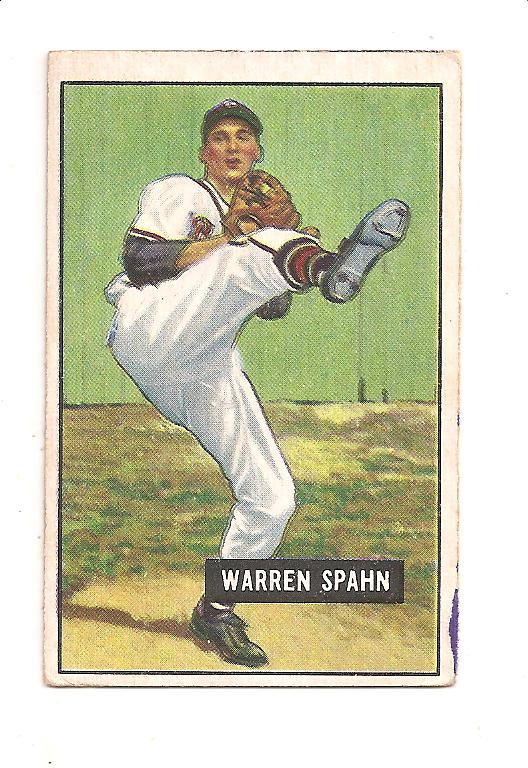1951 Bowman #134 Warren Spahn