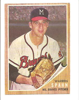 1962 Topps Warren Spahn #100 EXMT Actual scan