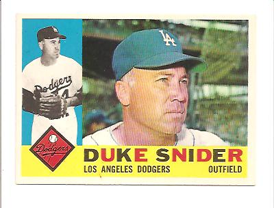 1960 Topps #493 Duke Snider