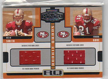 2005 Playoff Honors Rookie Quad Jerseys #RQ1 Alex Smith QB/Frank Gore/Antell Rolle/J.J. Arrington