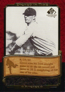 2003 SP Legendary Cuts Etched in Time 300 #LE Lefty Grove