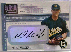 2001 Donruss Signature Stats Masters Series #34 Mark Mulder