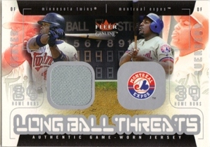 2003 Fleer Genuine Longball Threats Single Swatch #5A T.Hunter Jsy-Guerrero