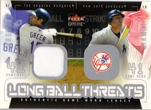 2003 Fleer Genuine Longball Threats Single Swatch #8A S.Green Jsy-Giambi