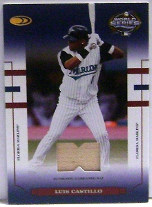 2004 Donruss World Series Blue Material Bat #8 Luis Castillo