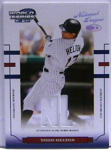 2004 Donruss World Series Material Fabric AL/NL #65 Todd Helton Jsy