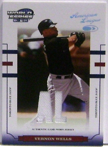 2004 Donruss World Series Material Fabric AL/NL #175 Vernon Wells Jsy