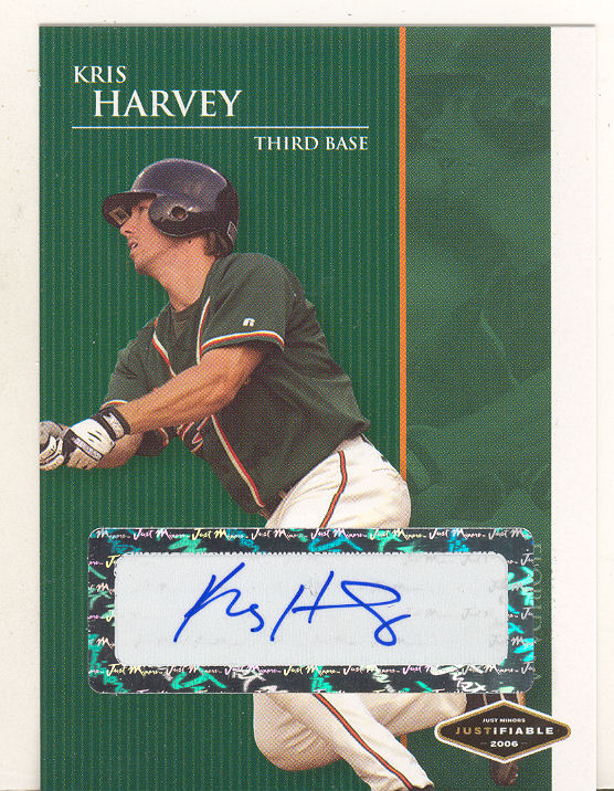 2006 Justifiable Autographs #11 Kris Harvey/775*