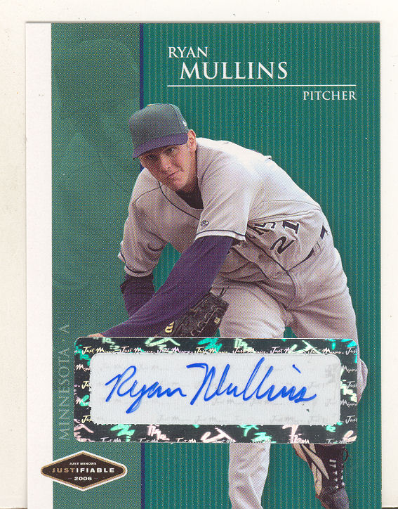 2006 Justifiable Autographs #29 Ryan Mullins/775*