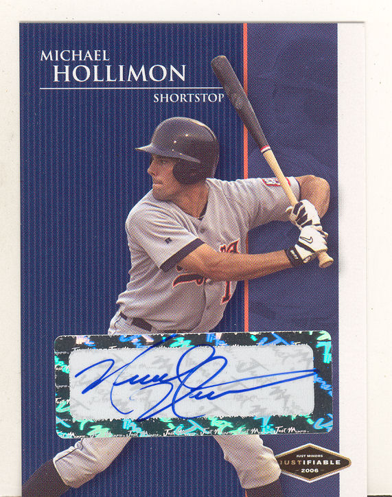 2006 Justifiable Autographs #15 Michael Hollimon/775*