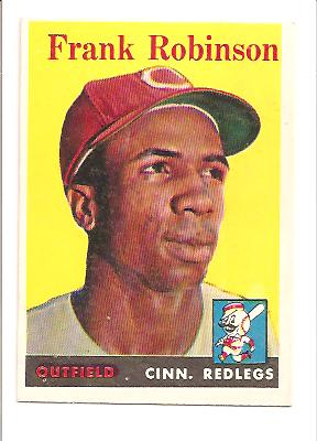 1958 Topps #285 Frank Robinson Actual scan