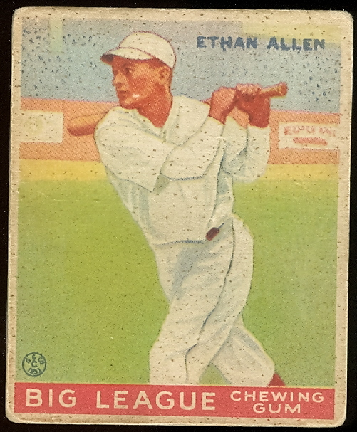 1933 Goudey #46 Ethan Allen RC