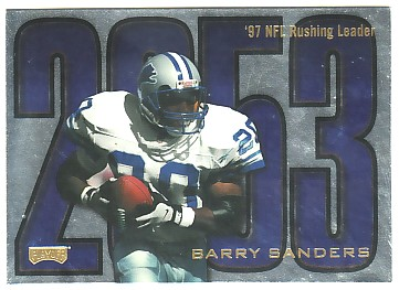 1998 Playoff Prestige Inside the Numbers Non-Die Cut #1 Barry Sanders