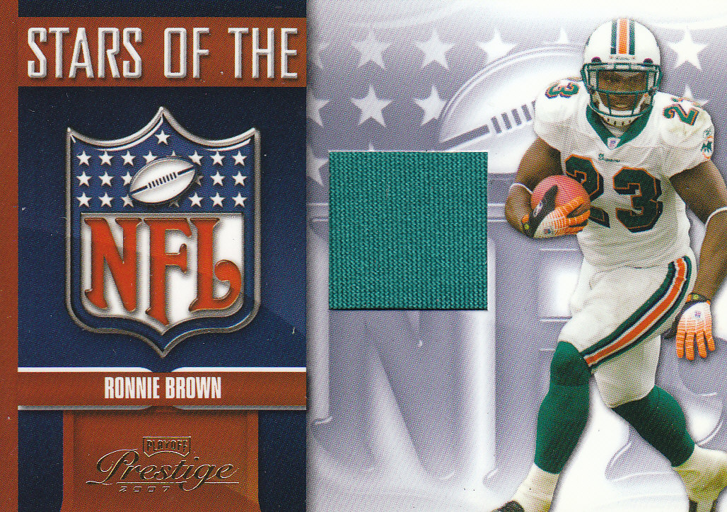 2007 Playoff Prestige Stars of the NFL Materials #11 Ronnie Brown