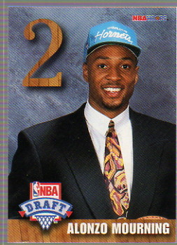 1992-93 Hoops Draft Redemption #B Alonzo Mourning