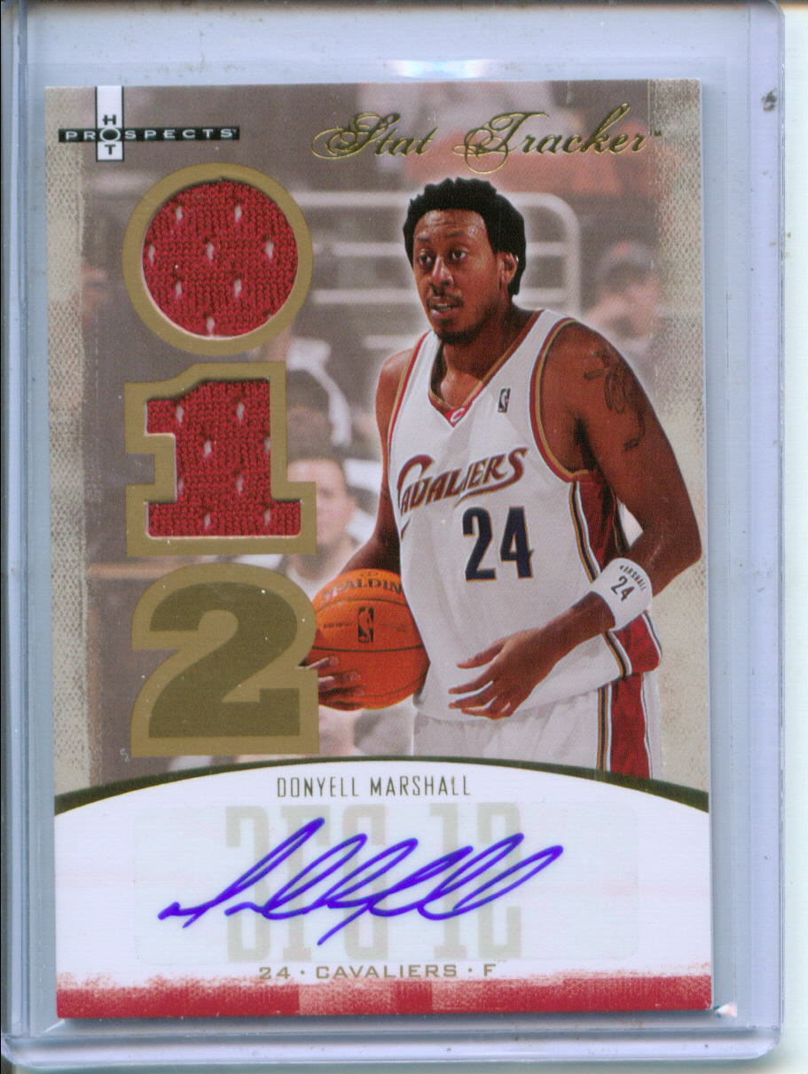 2007-08 Fleer Hot Prospects Stat Tracker Jersey Autographs #16 Donyell Marshall/50