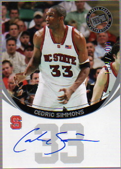 2006 Press Pass Autographs Silver #56 Cedric Simmons