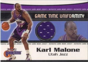 2000-01 Fleer Game Time Uniformity #8 Karl Malone