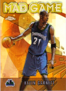 2001-02 Topps Chrome Mad Game Refractors #MG5 Kevin Garnett