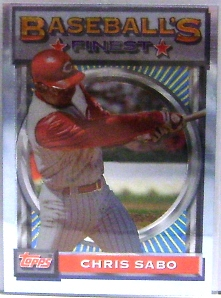1993 Finest #39 Chris Sabo