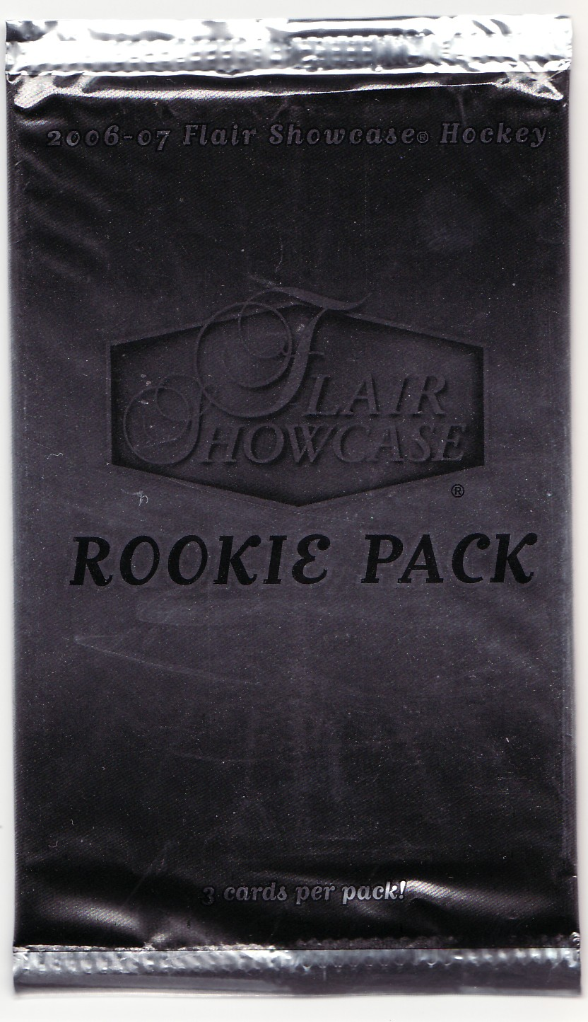 2006-07 flair showcase hockey rookie packs