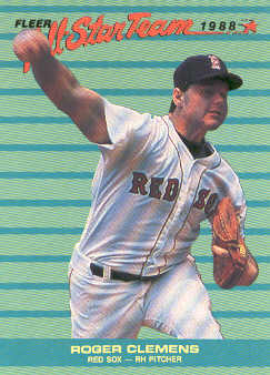 1988 Fleer All-Stars #4 Roger Clemens