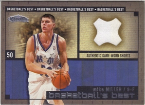 2002-03 Fleer Showcase Basketball's Best Memorabilia #BBM12 Mike Miller Short
