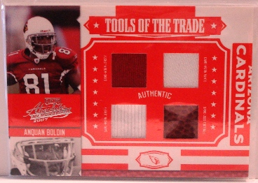 2007 Absolute Memorabilia Tools of the Trade Material Quad Red #8 Anquan Boldin