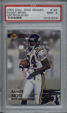 2000 Collector's Edge Graded Football #145 Randy Moss Uncirculated Mint PSA 9 Minnesota VIKINGS NICE