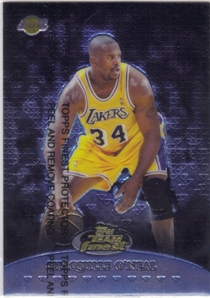 1999-00 Finest Team Finest Blue #TF14 Shaquille O'Neal