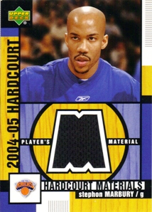 2004-05 Upper Deck Hardcourt Materials #SM Stephon Marbury