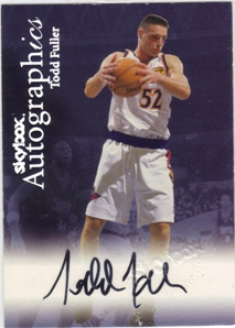 1999-00 SkyBox Premium Autographics #34 Todd Fuller
