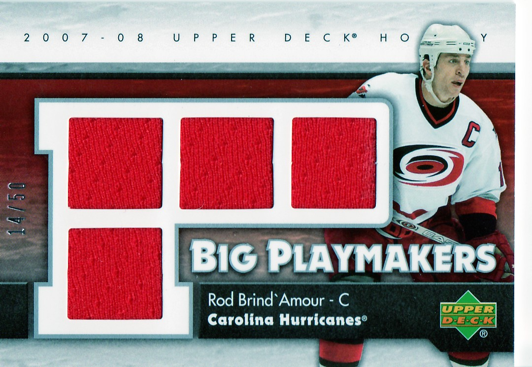2007-08 Upper Deck Big Playmakers #BPRO Rod Brind'Amour