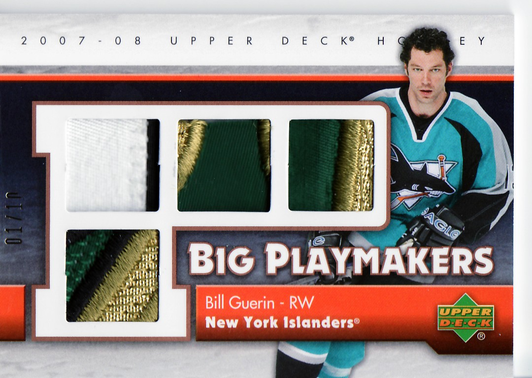 2007-08 Upper Deck Big Playmakers Patches #BPBG Bill Guerin