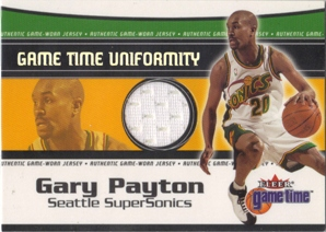 2000-01 Fleer Game Time Uniformity #15 Gary Payton
