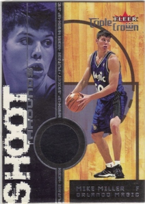 2000-01 Fleer Triple Crown Shoot Arounds #11 Mike Miller