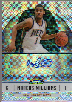 2006-07 Finest Rookie Autographs X-Fractors #74 Marcus Williams