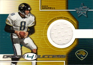 2000 Leaf Rookies and Stars Dress Four Success #4J Mark Brunell Jersey/300