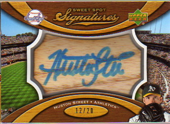 2007 Sweet Spot Signatures Bat Barrel Blue Ink #HS Huston Street/20
