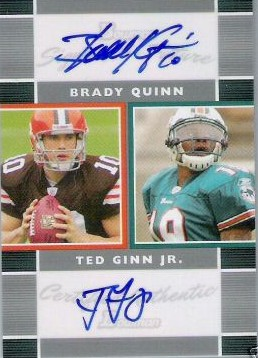 2007 Bowman Signs of the Future Dual #QG Brady Quinn/Ted Ginn Jr.