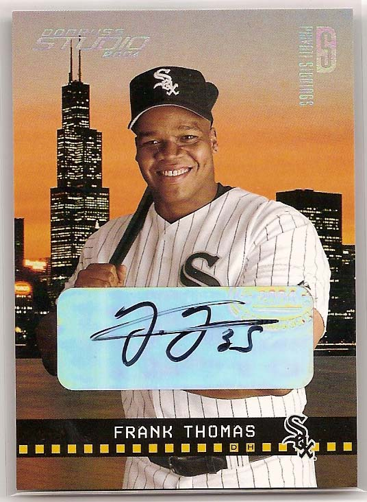 2004 Studio Private Signings Platinum #52 Frank Thomas/5