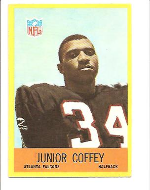 1967 Philadelphia #2 Junior Coffey RC