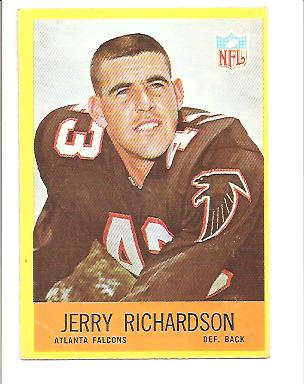 1967 Philadelphia #8 Jerry Richardson RC