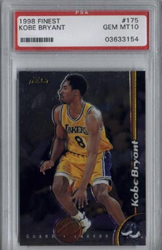 1998 Topps Finest Basketball #175 Kobe Bryant Gem Mint PSA 10