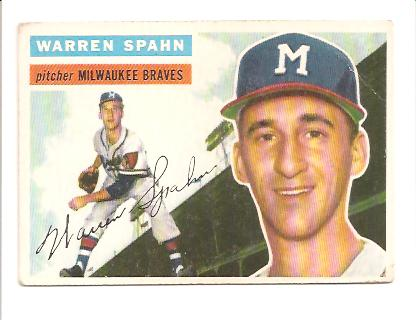 1956 Topps #10 Warren Spahn
