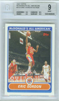 2007 Topps McDonald's All American In Action #EG Eric Gordon (Graded BGS 9 Mint)