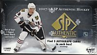 2007 - 08 (2008) Upper Deck SP Authentic Hockey Factory Sealed Hobby Series Box - 3 Autographs ( Possible Carey Price , Sidney Crosby ) & 2 Holo F/X Cards Per Box On Avg. - In Stock Now     front image