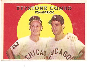 1959 Topps #408 Keystone Combo/Nellie Fox/Luis Aparicio