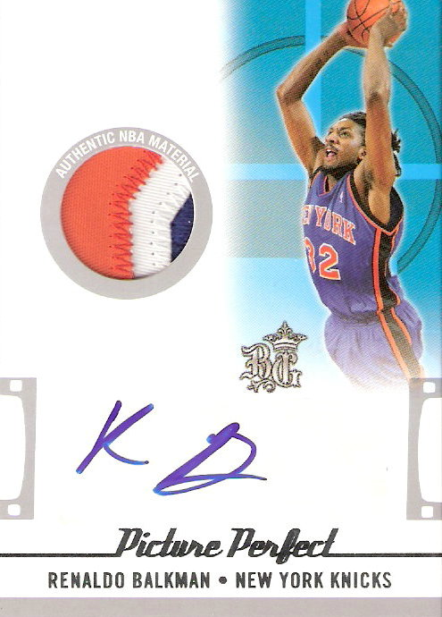 2006-07 Topps Big Game Picture Perfect Patches Autographs #RB Renaldo Balkman